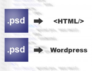 Convert PSD to HTML, wordpress