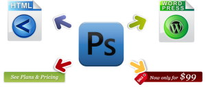 Photoshop to HTML, WordPress conversion