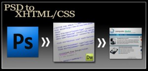 Essential Process and Services in PSD to XHTML Services